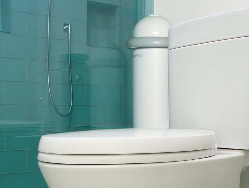 The Pod Classic Auto installed beside toilet in shower washroom