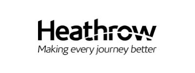 Heathrow Airport logo in black