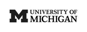 University of Michigan logo in black