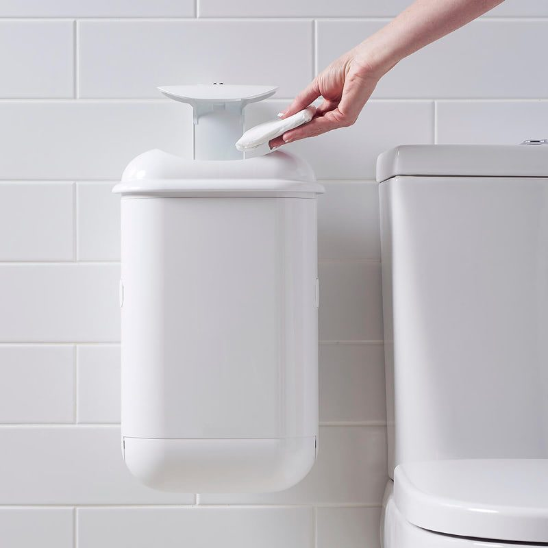 Disposing of Sanitary Waste in Pod Petite Sanitary bin